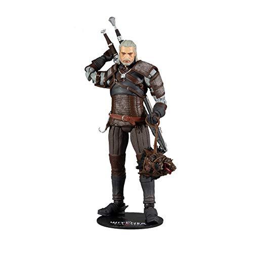 McFarlane The Witcher Actionfigur Geralt 18 cm, Mehrfarbig, einheitsgröße, 13401-8