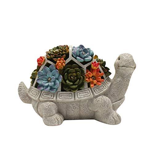 Schildkröte Garten Figuren Outdoor-Dekor, mit Lotus 7 LEDs, Outdoor Statuen Schildkröte Figuren,...