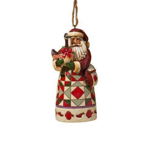 "Enesco Jim Shore Heartwood Creek Canadian Santa Stone Resin Hanging Ornament, 4.75"""