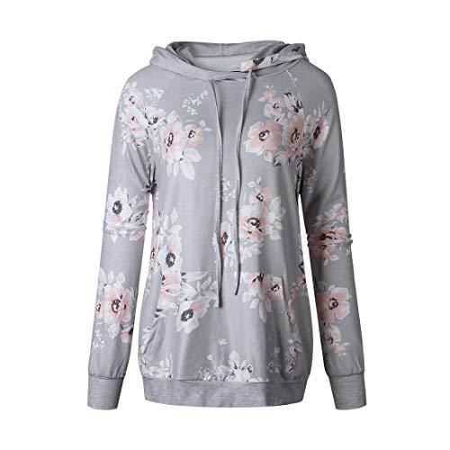 Damen Hoodie Pullover Lange Ärmel Loose Bequemer Color Matching Drucken Streetwear Frühling,...