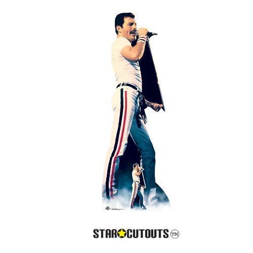 Star Cutouts CS700 Lebensgröße Papp-Figur von Freddie Mercury 1982 Farbe mit freistehendem...