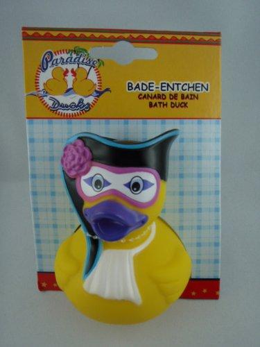 Postler - 59327 - Badeente, Quietscheente, Festliche Ente, Maskenball, PVC, ca. 10cm