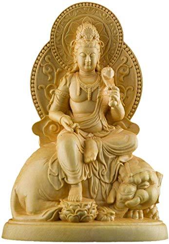 Ornament Figur Sammlerfiguren Ornamente Statuen Skulpturen Buchsbaum Holz Buddha Buddha Statue...