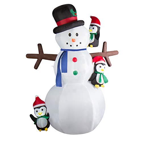CCLIFE Led Schneemann Beleuchtet Aufblasbar snowman outdoor Außenbereich Schneemänner...