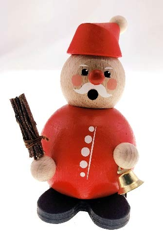 Rudolphs Schatzkiste Weihnachtsfigur Weihnachtsmann mit Glocke & Rute BxHxT 9x9x12cm NEU Miniatur...