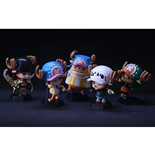 QTRT 5pcs ONE Piece Tony Chopper Cosplay Edward Newgate PVC Anime Cartoon Game Character Modell...