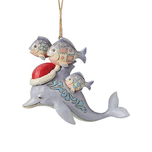 Enesco Jim Shore Heartwood Creek Weihnachts-Delfin zum Aufhängen