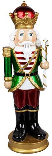 dekojohnson traditionelle Nussknacker-Figur-König XXL Weihnachtliche-Deko-Figur Adventsdeko...