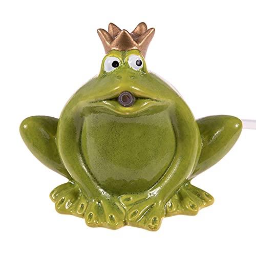 SIDCO Wasserspeier Froschkönig grün Frosch m. Pumpe Wasserspiel Teichfigur Garten Deko