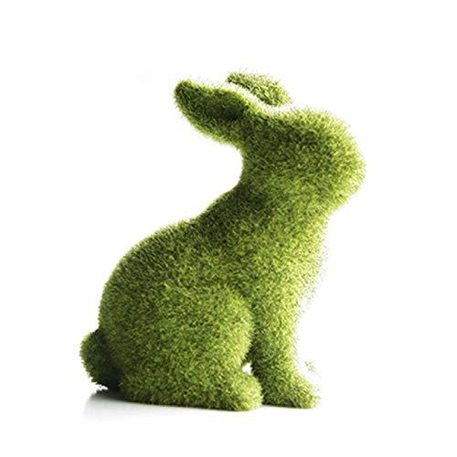 CHENSTAR Osterhasen-Ornamente, grüner Hase, Harz, Osterhase, Ostern, als Geburtstagsgeschenk,...