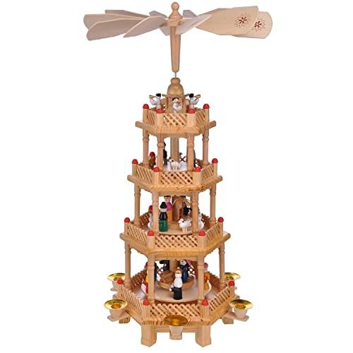 Preiswert&Gut Weihnachtspyramide Weihnachtsfiguren 4 Ebenen Weihnachten Pyramide Alte Kerzen