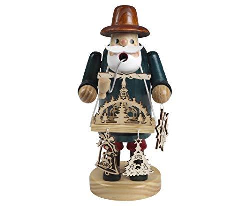 Rauchfigur mit Bauchladen Weihnachtspyramide Weihnachtsdeko Räuchermännchen Xmas Figur...