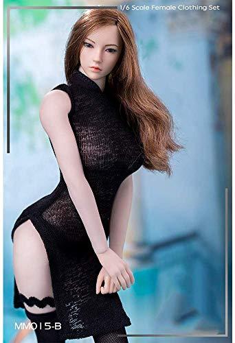 NEDTO 1/6 High Slit Semi-transparent Cheongsam Anzug Action Doll Kostüm Für HT VERYCOOL TTL Play...