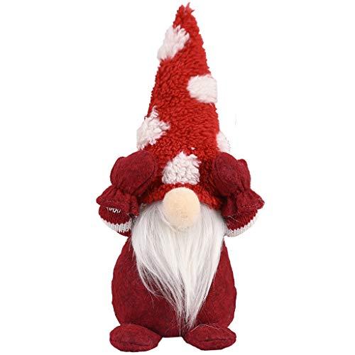 Binggong Weihnachtsdeko Wichtel Figuren süße Weihnachtsmann Santa Gnom, Skandinavischer Zwerg...
