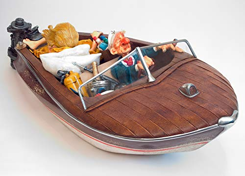 Guillermo Forchino 'The Playboy' 'Le Playboy' Comic Art Sculpture, Speed Boat, Size Scale 50%...