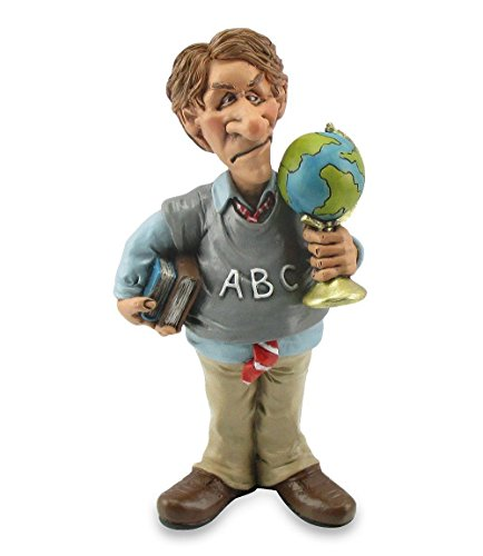 Alpes Funny Job Comic Dekofigur Polyfigur Professor mit Echten Gesichtszügen 17 cm