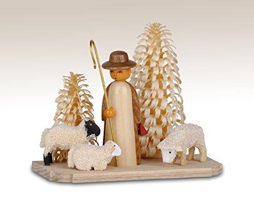 Miniaturen Schäferei auf Sockel, natur 6,5cm NEU Miniatur Weihnachtsfigur Erzgebirge