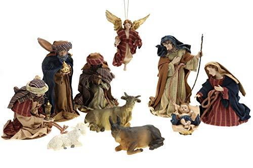 Creation Gross Krippenfiguren mit Kleidern ca. H.: 17 cm, 10-teilig (0940260)