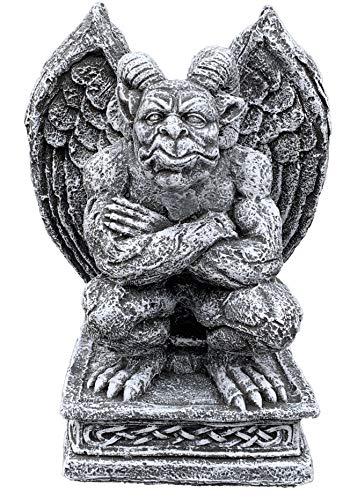 Steinfigur Torwächter Gargoyle hockend frostfest wetterfest Steinguss