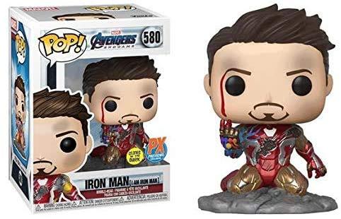 Yesjoy POP! 10 cm Avengers Endgame: Ich Bin Iron Man Glow-in-The-Dark Deluxe Vinyl Figur, Mehrfarbig