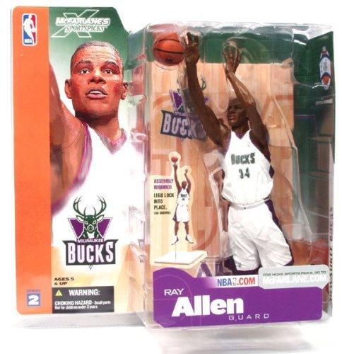 McFarlane NBA Series 2 RAY Allen #34 - Milwaukee Bucks Figur