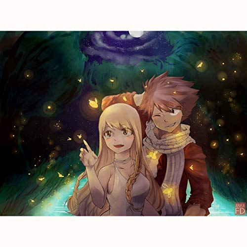 FENGZI Puzzle Puzzle Kinder Teenager für Fairy Tail Lucy und Natsu Dragonyl Erwachsene 300/500/1000...