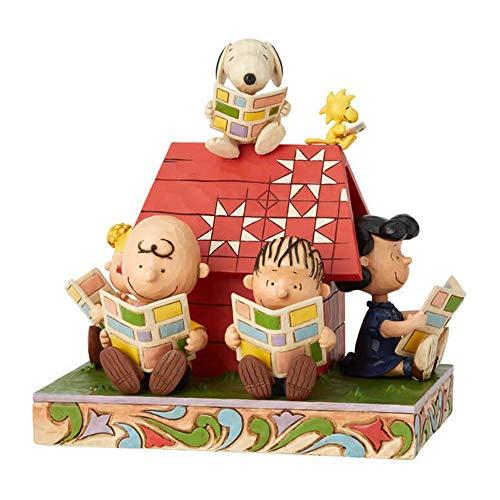 ENESCO Jim Shore Peanuts Gang Reading Comics Figurine 6001289