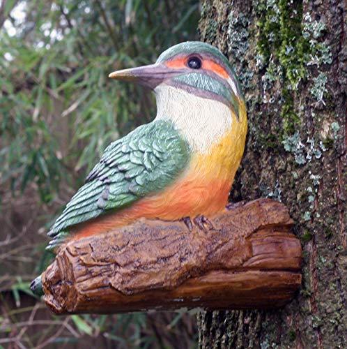 Bunter Eisvogel, 19 cm, Kunstharz, Garten- oder Teichdekoration, für drinnen und draußen.