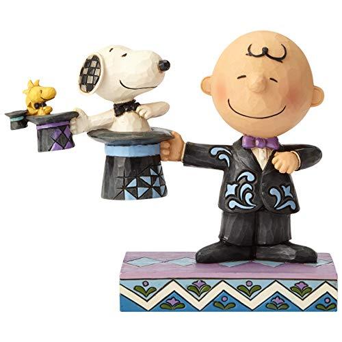 Enesco Jim Shore Peanuts Charlie Brown Zylinder, 12,5 cm, Mehrfarbig