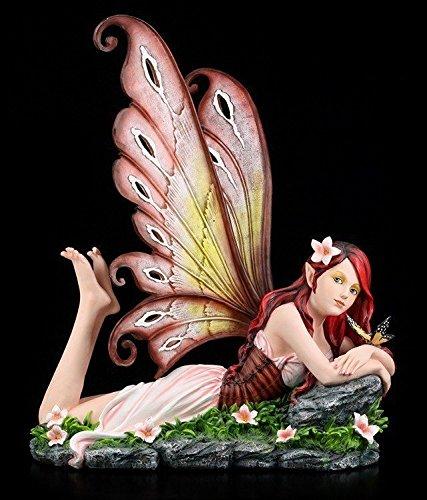 Große Elfen Figur XXL - Annabelle liegend - Fee Fairy Deko Elfenfigur Elfe