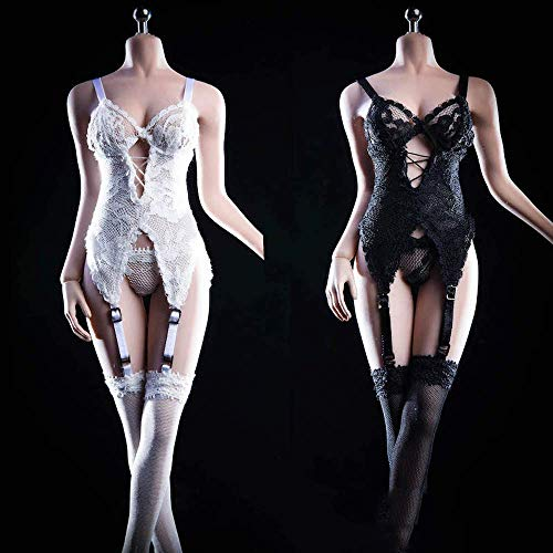 ZSMD 1/6 Scale Female Figure Doll Clothes, Handmade Sexy Lingerie Bodysuit Set for 12' Action Figure...