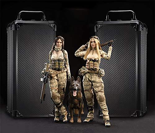 1/6 Soldat Action-Figur,12-Zoll-Doppel Frauen Soldat Jenner Figur Weibliche Puppe und Deutsch...