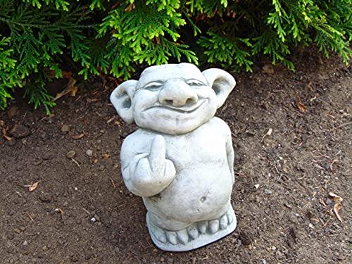 Steinfigur Troll Gnom Gartenfiguren für Garten Deko Teich FantasiefigurSteinfigur Troll Gnom...