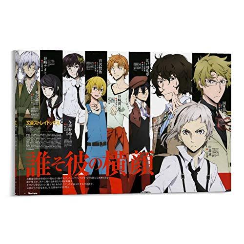 Bungo Stray Dogs 50 Japanisches Anime-Poster auf Leinwand, 60 x 90 cm