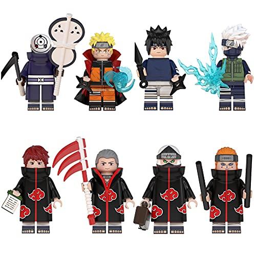 \t Anime Figuren Naruto Spielfigur 8 Stück Figur - Uzumaki Naruto Hatake Kakashi Uchiha Sasuke Pain...