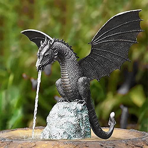 Wasserspray Dragon Wasser Merkmale für den Garten, Gartenfigur Garten - Drache Wasserspeier,...