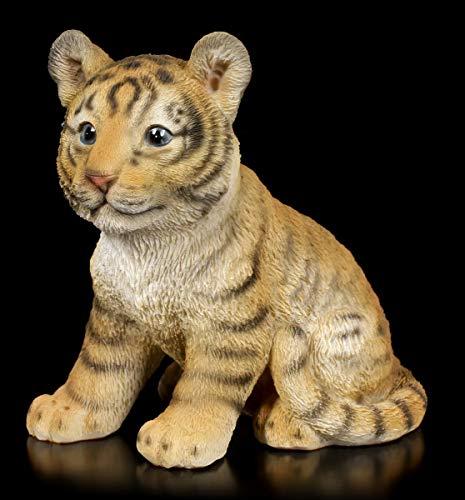 Figuren Shop GmbH Gartenfigur - Kleines Tiger Baby   Tierfigur, Deko-Figur, Garten-Deko,...