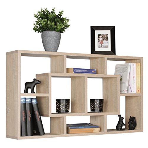 FineBuy Wandregal Andy 85 x 47,5 x 16 cm MDF-Holz Hängeregal modern | Design Wandboard...