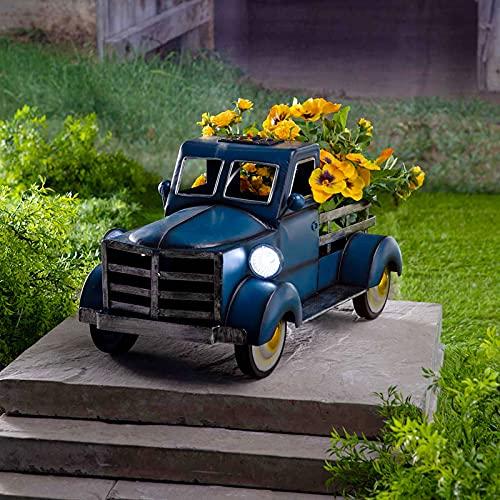 SHONTON Garten Geschenke,LED Solarleuchte Gartenfiguren,Gartenfigur mit Solarlaterne, Retro-Stil...