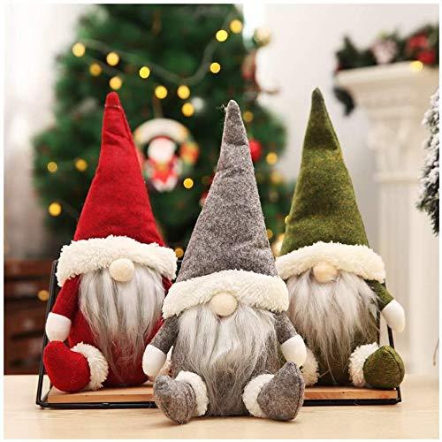 Huaxiangoh 3 Stück Weihnachten Gesichtslose Puppe, Weihnachtspuppe, Ostern Weihnachten Deko...
