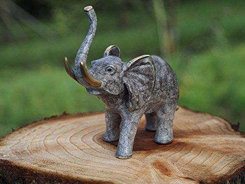 H. Packmor GmbH Bronzeskulptur Kleiner Elefant Gartenfigur Dekorationsfigur aus Bronze