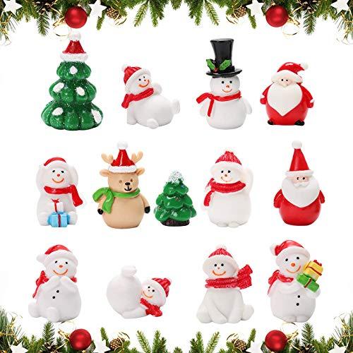 Mini Weihnachten Deko,Weihnachten deko Figuren,Winter Schnee Ornament,Weihnachten Mini Ornamente...