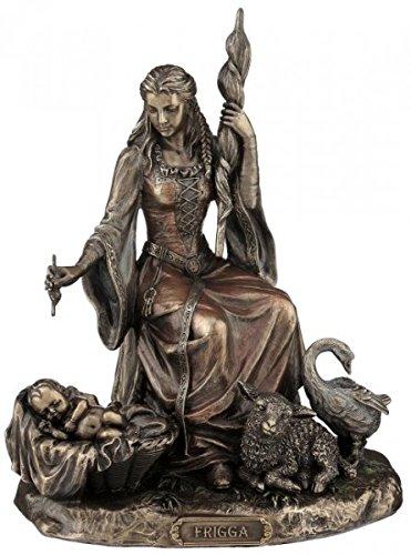Unbekannt Figur Frigga nordische Göttin der Liebe Figur bronziert Skulptur Veronese Odin Frigg