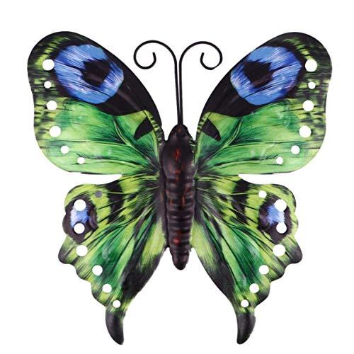 UPKOCH Garten Schmetterlinge Deko Eisen Gartendeko Tiere Figur Metall Wanddeko Wandkunst Gartenfigur...
