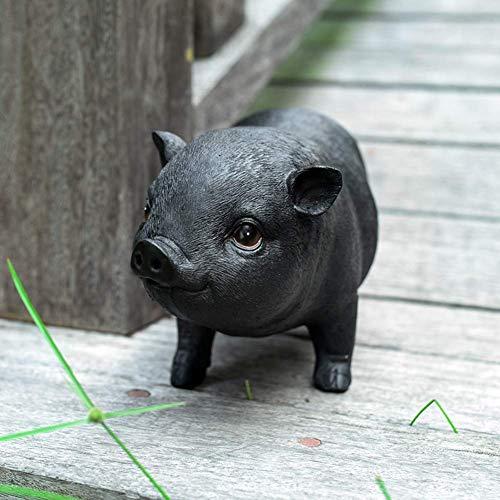 LEILEI Garten Dekor Figuren,Hof Basteln Ornamente Skulpturen,Süße Simulation Harz Schwein...