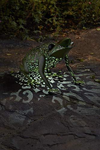 Wunderschöne Metall Garten Deko Figuren Solar Tiere mit LED Beleuchtung und Lichtsensor |...