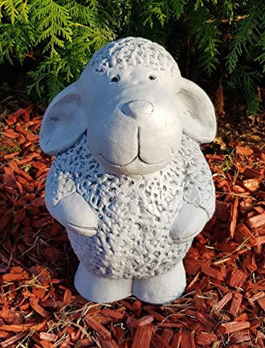 Gartenfigur stehendes Schaf groß frostfest von Hand hergestellt Dekofigur für außen Garten...
