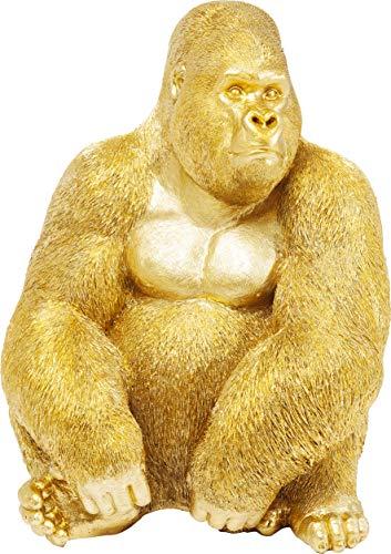 Kare Design Deko Figur Gorilla Side XL Gold, große Dekofigur in Form eines Gorillas, ausgefallene...