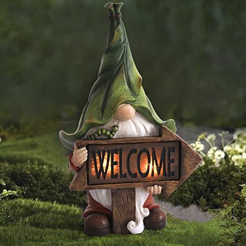 La Jolíe Muse Gartenfigur aus Harz – weihnachtlicher Tomte Gnom mit langem Bart mit...