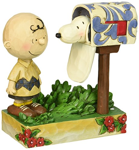 Jim Shore für Enesco Peanuts Charlie Brown & Snoopy Mailbox Figur, 12,7cm
